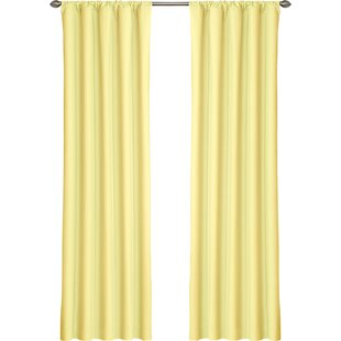 Dasher Solid Blackout Thermal Rod Pocket Single Curtain Panel