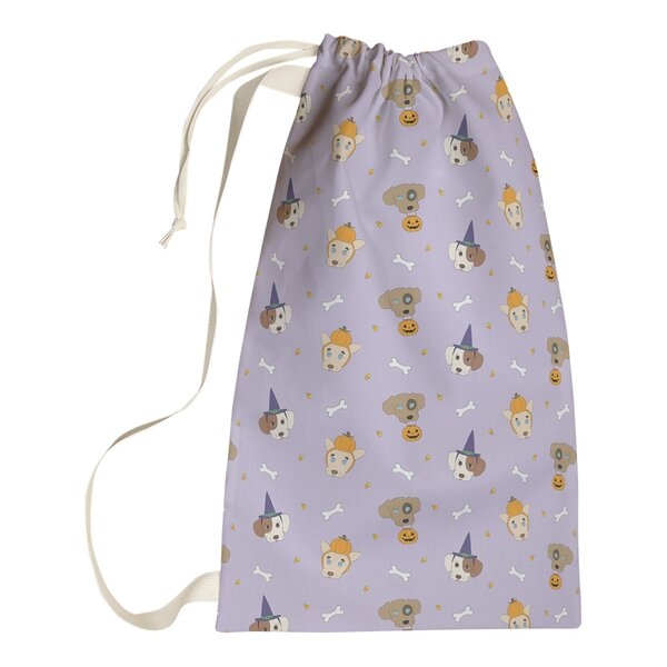 East Urban Home Festive Hol Halloween Dogs Laundry Bag Wayfair