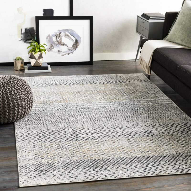 Union Rustic Lysette Oriental Charcoal Gray Area Rug Reviews Wayfair