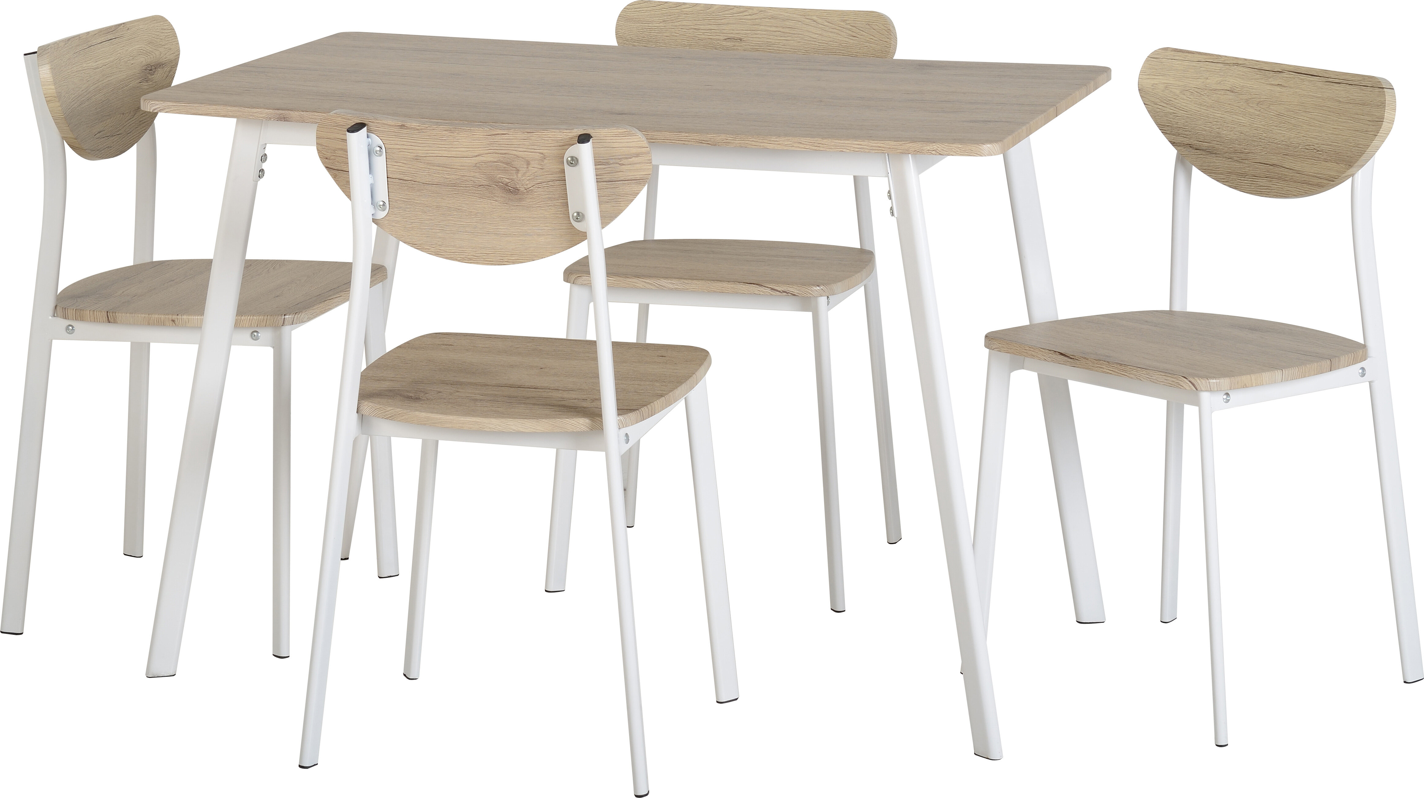 Fjørde & Co Amanda Dining Table and 4 Chairs & Reviews | Wayfair.co.uk