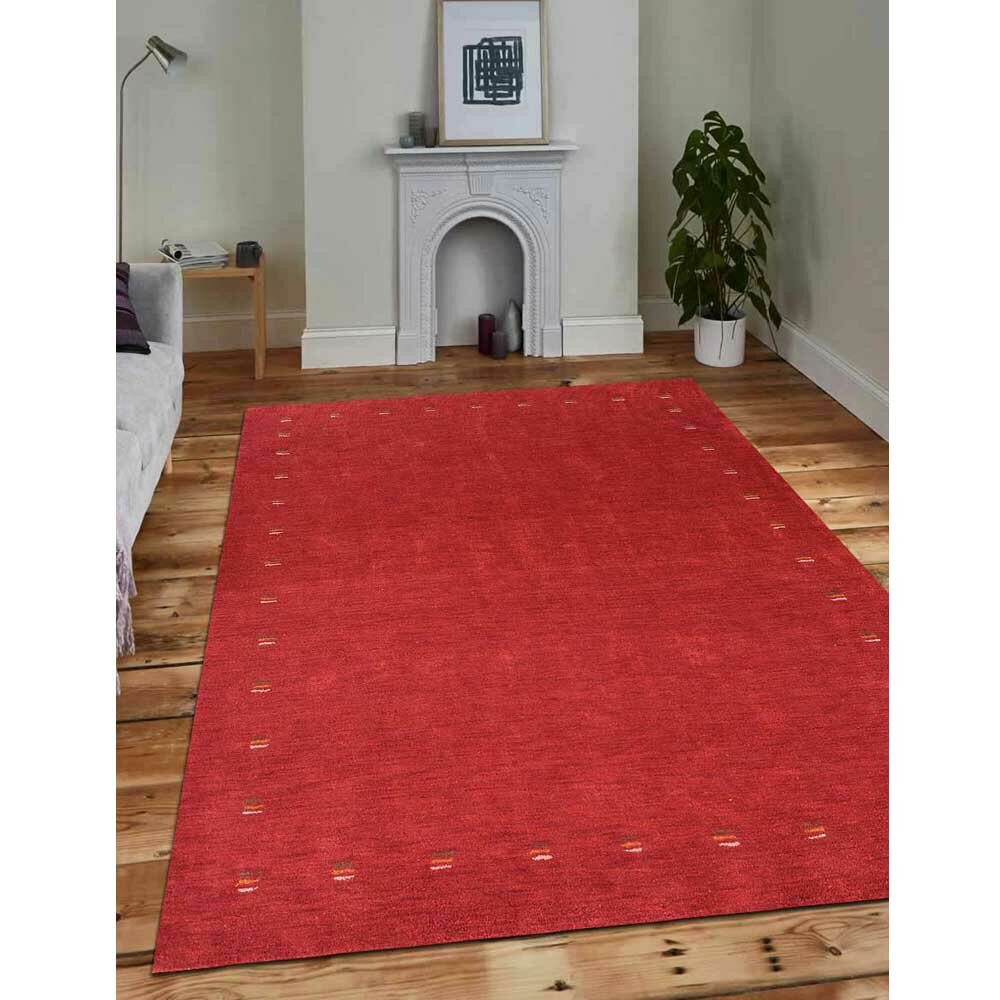 Foundry Select Cheyney Hand Knotted Silk Red Area Rug Wayfair