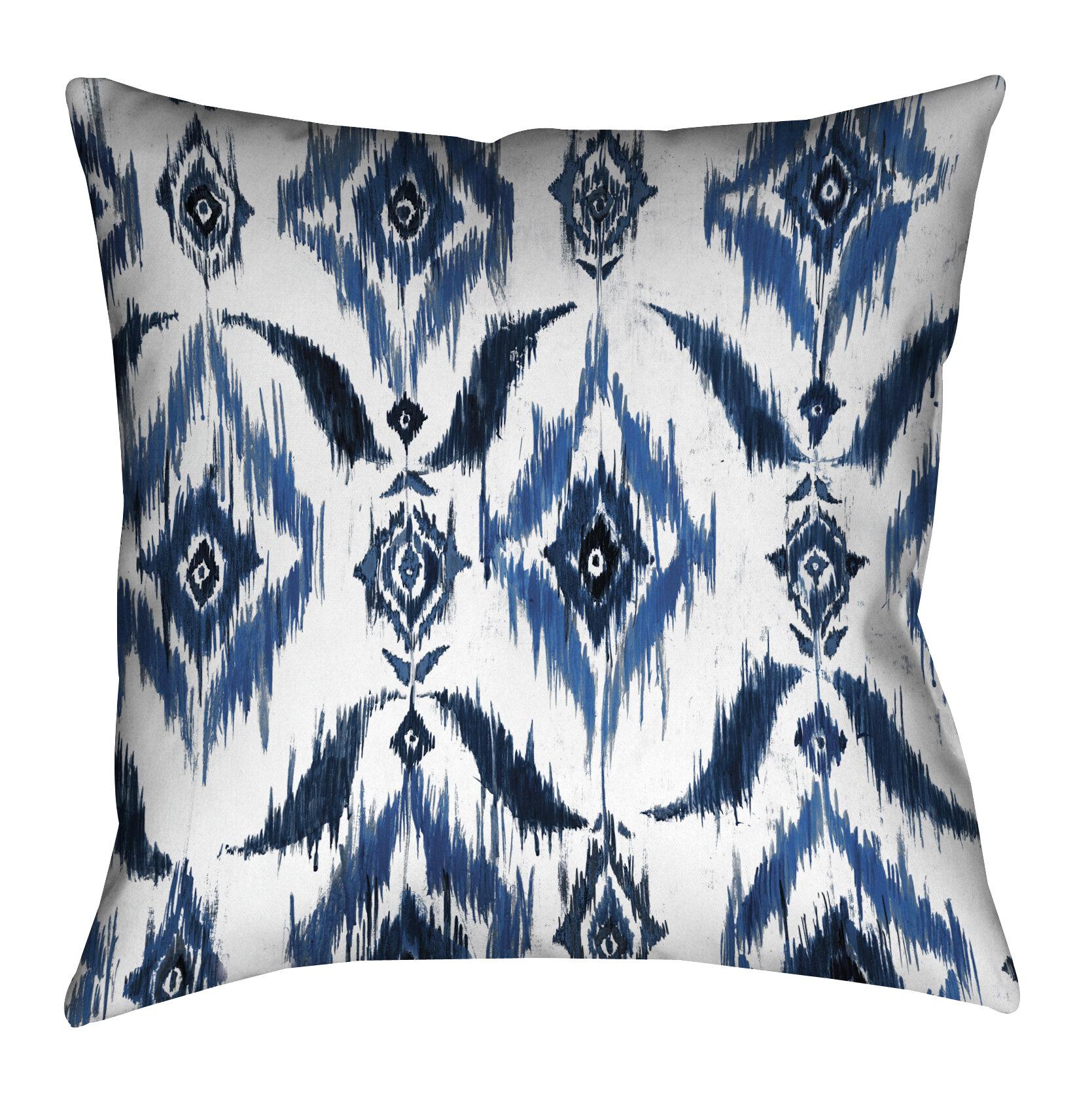 Lauralhome Ikat Outdoor Throw Pillow Wayfair