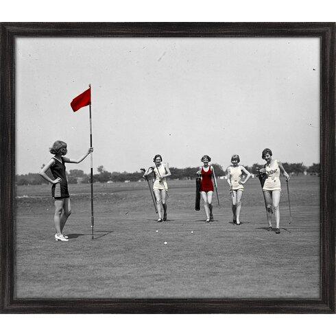 Melissa Van Hise \'Beach Golf\' Framed Photographic Print | Wayfair