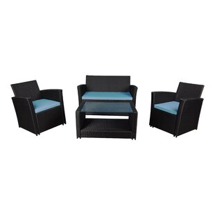 4 Piece Sofa Set With Cushions by Madison Home USA Read Reviews