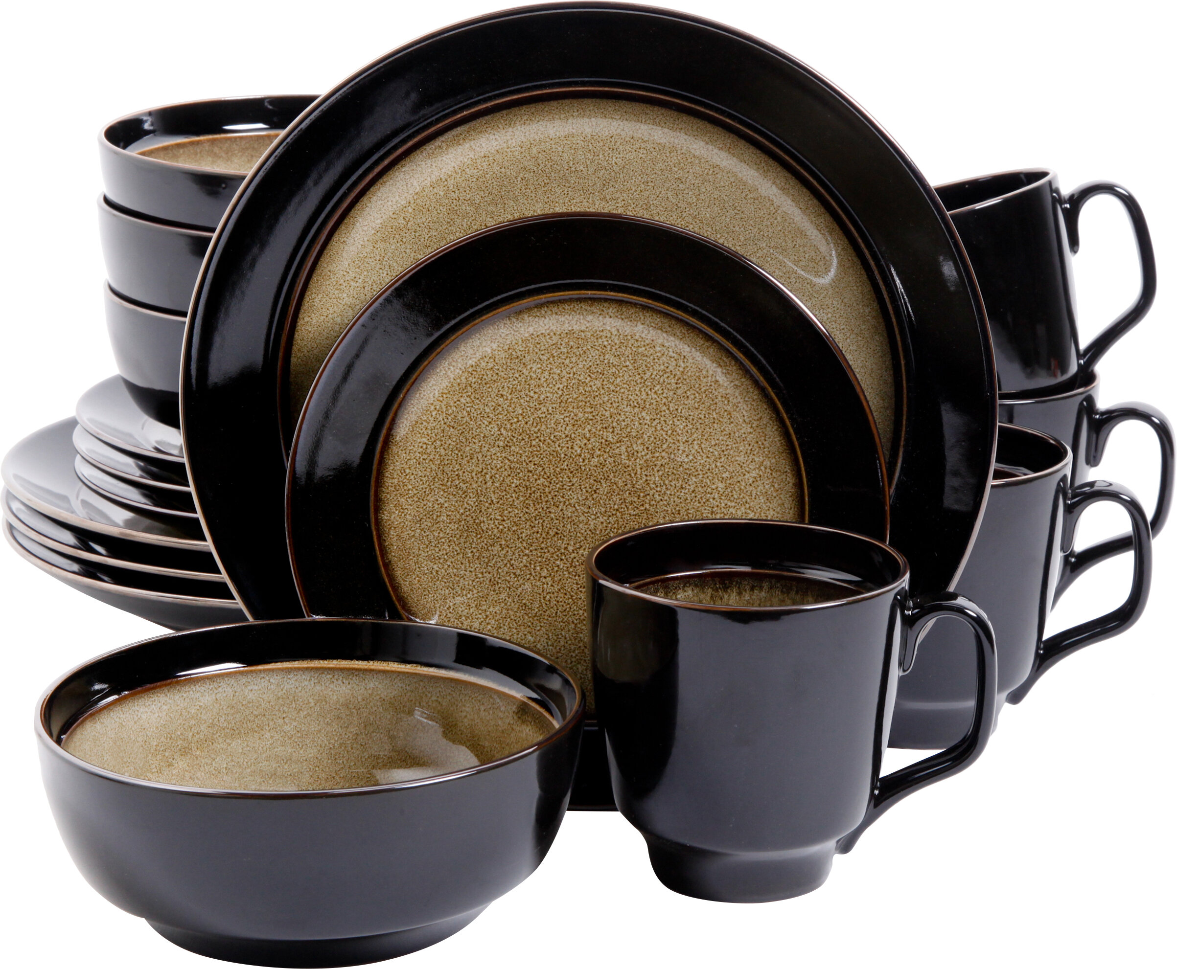 Mint Pantry Stoneware 16 Piece Dinnerware Set Service for 4 \u0026 Reviews | Wayfair  sc 1 st  Wayfair & Mint Pantry Stoneware 16 Piece Dinnerware Set Service for 4 ...