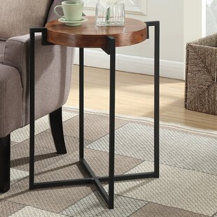 Affordable Longmeadow Round Tray Table by Loon Peak