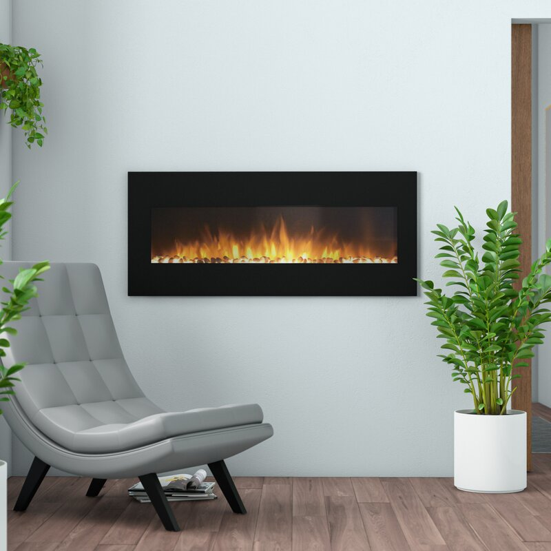 Orren Ellis Baretta Wall Mounted Electric Fireplace Reviews