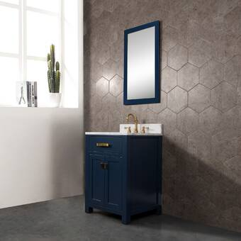 Namv Crystal Dance 28 Single Bathroom Vanity Set With Mirror Wayfair