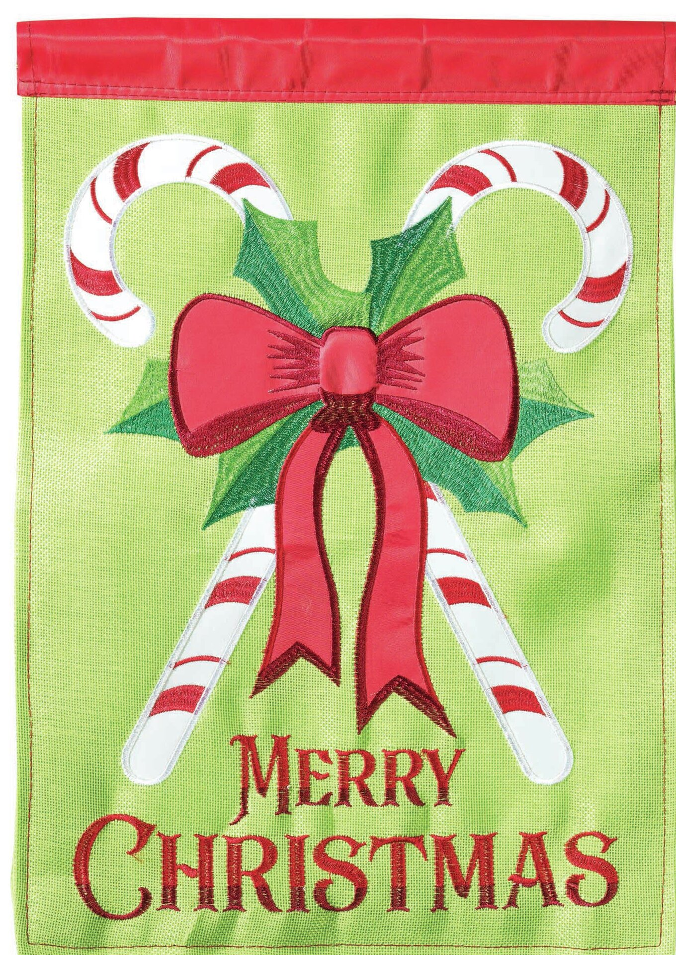 Merry Christmas Candy Cane 2 Sided Polyester 1 5 X 1 1 Ft Garden Flag
