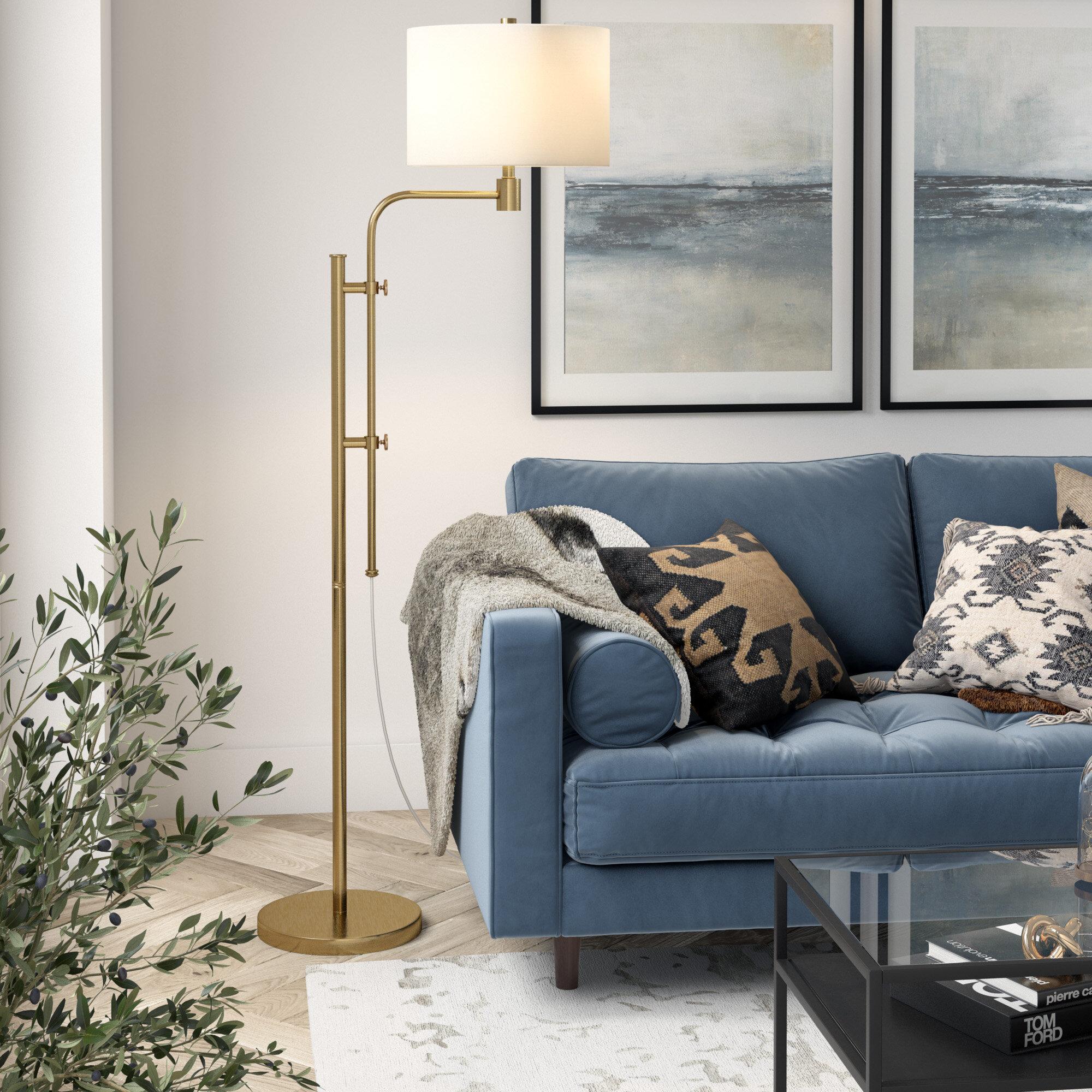 Offutt 72 Swing Arm Floor Lamp