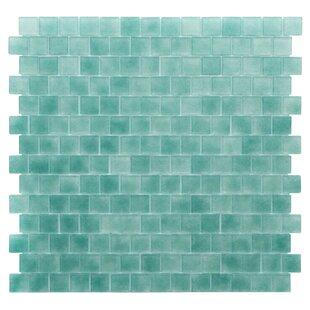 Quartz 0 75 X Gl Mosaic Tile In Aqua Green