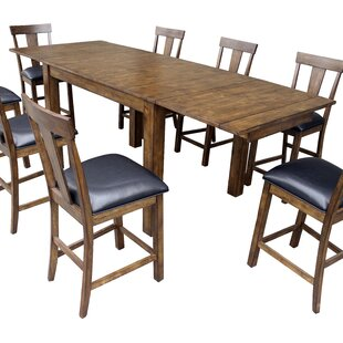 Alder Solid Wood Dining Table Loon Peak
