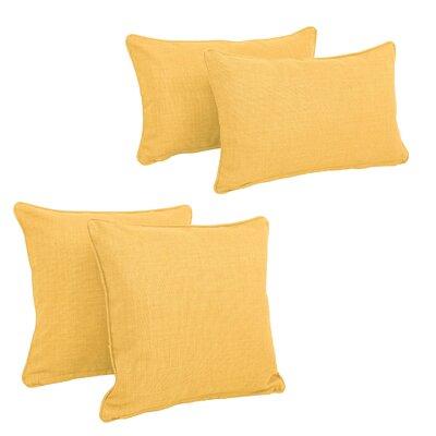 Three Posts Dunwich Indoor/Outdoor Throw Pillow Color: Lemon