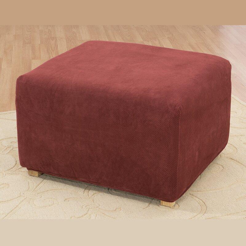 Stretch Pique Oversized Ottoman Slipcover