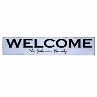 Personalized Welcome Family Name Sign Wall Décor