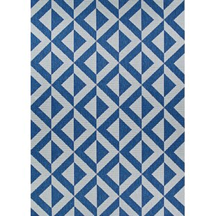 Schulte Sea and Dune Blue/Brown Indoor/Outdoor Area Rug
