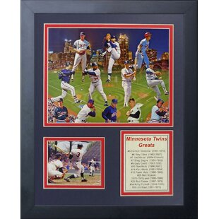 11 x 14-Inch Legends Never Die 1987 Minnesota Twins Champions Framed Photo Collage