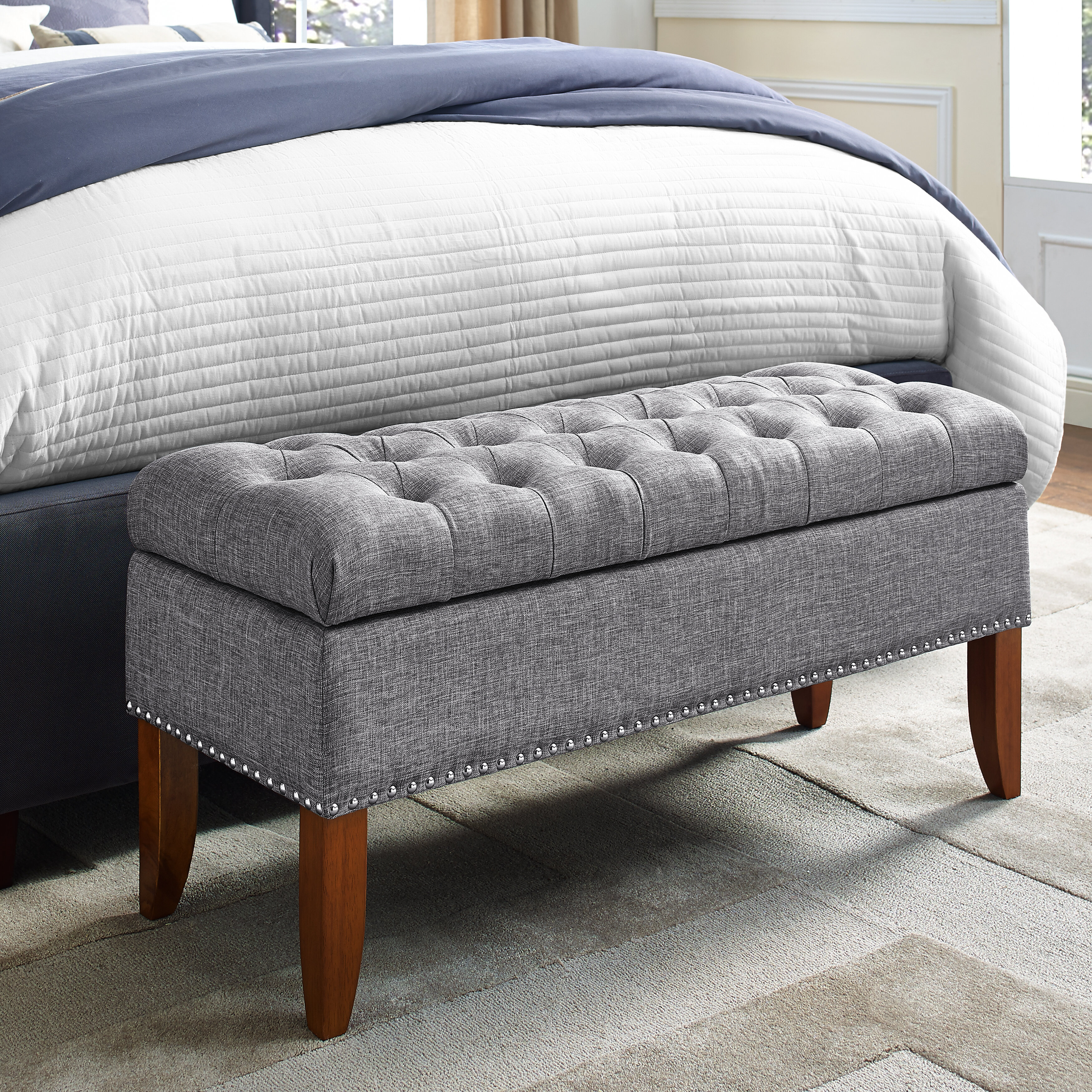 Grey Benches You Ll Love In 2021 Wayfair