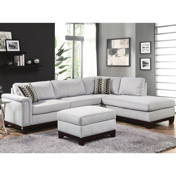 chaise grayish contemporary ac amazon com homelegance dp sectional reversible lounge with brown sofa tufted phelps