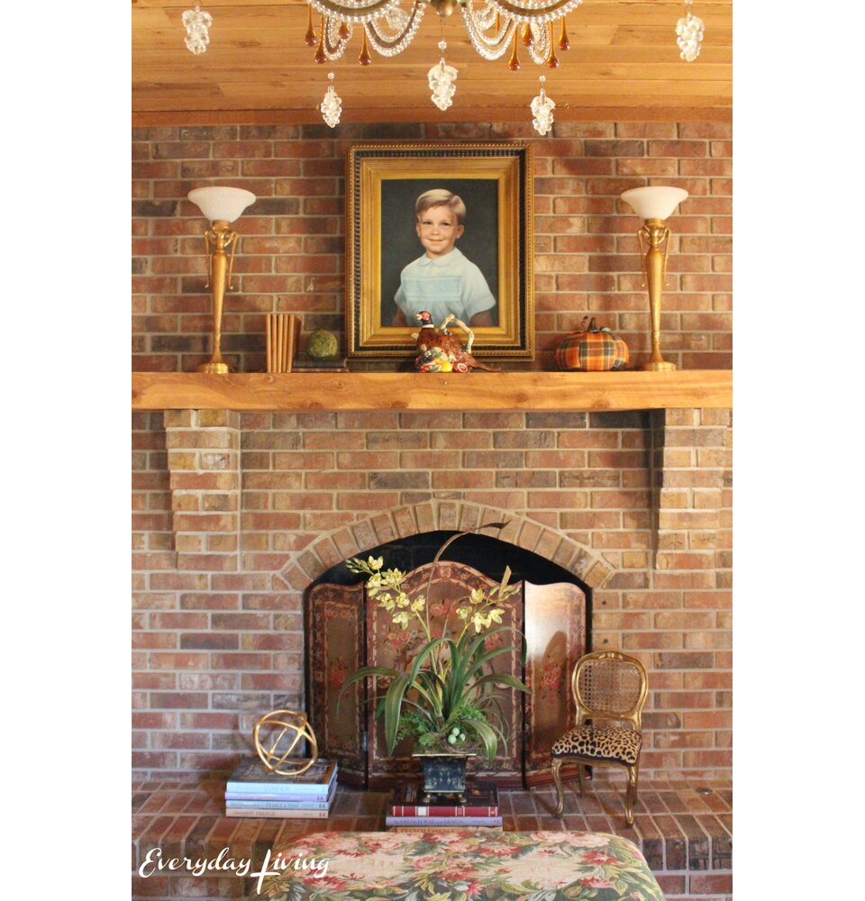 Pam Richardson Everyday Living fireplace mantel