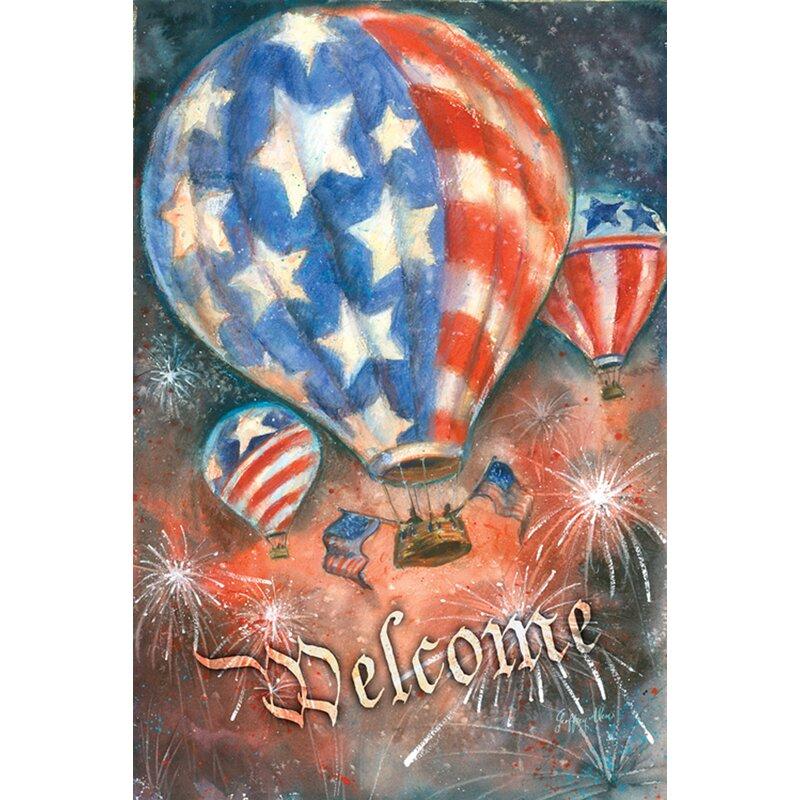 Toland Home Garden Red White And Balloon Garden Flag Wayfair