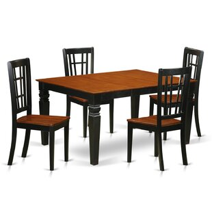 Bellaire 5 Piece Dining Set by DarHome Co Top Reviewst