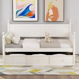 Tyrinia Twin Solid Wood Daybed with Trundle by Rosalind Wheeler