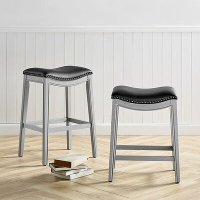 Black Leather Bar Stools You Ll Love In 2020 Wayfair