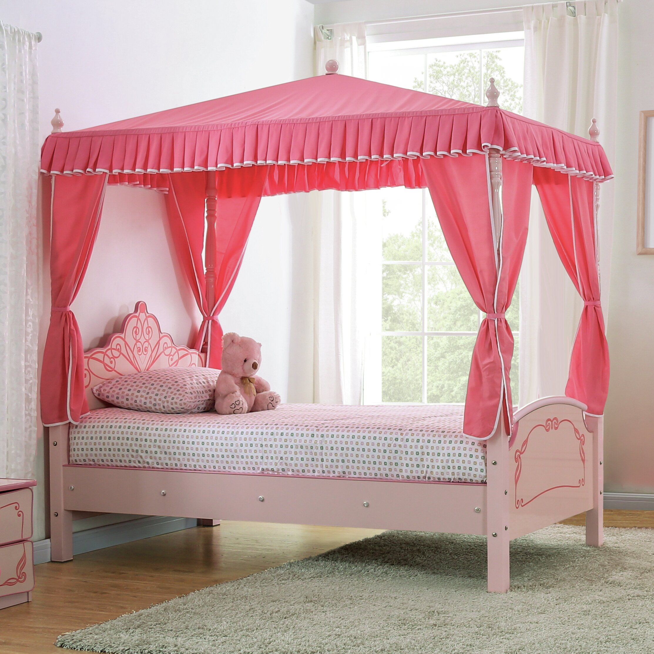 Zoomie Kids Garnett Twin Canopy Bed Wayfair