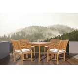 Dayne 5 Piece Teak Dining Set with Cushions