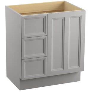 Damask? 30 Vanity with Toe Kick, 1 Door and 3 Drawers on Left by Kohler
