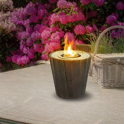 Montauk Reclaimed Wood Gel Tabletop Fireplace Anywhere Fireplace