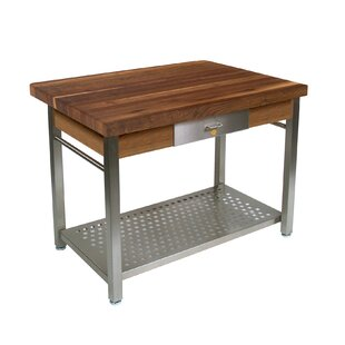 Cucina Grande Kitchen Island with Solid Wood Top John Boos