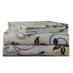 Spring Ivy Flannel Sheet Set