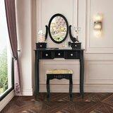 Cavender Vanity Set with Mirror by Rosdorf Park