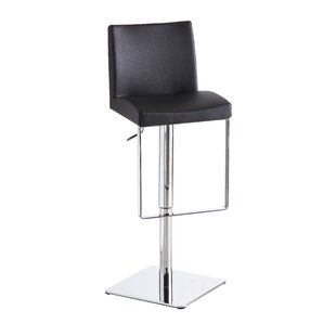Cranesville Adjustable Height Swivel Bar Stool Wade Logan