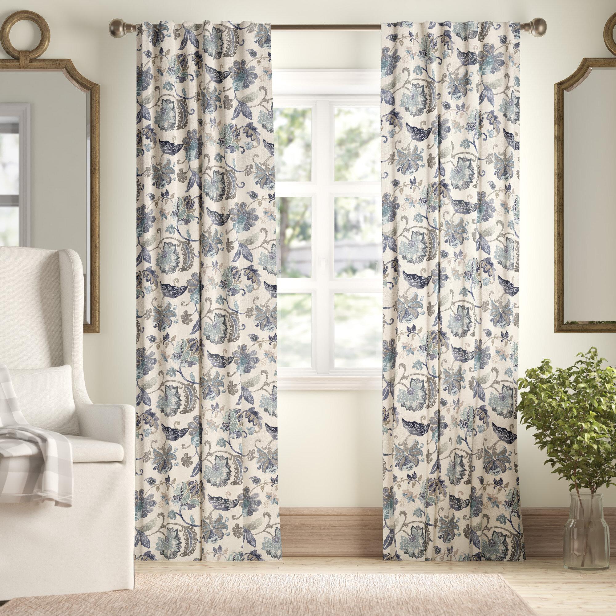 Birch Lane Jessamy Floral Blackout Thermal Rod Pocket Single Curtain Panel Reviews Wayfair