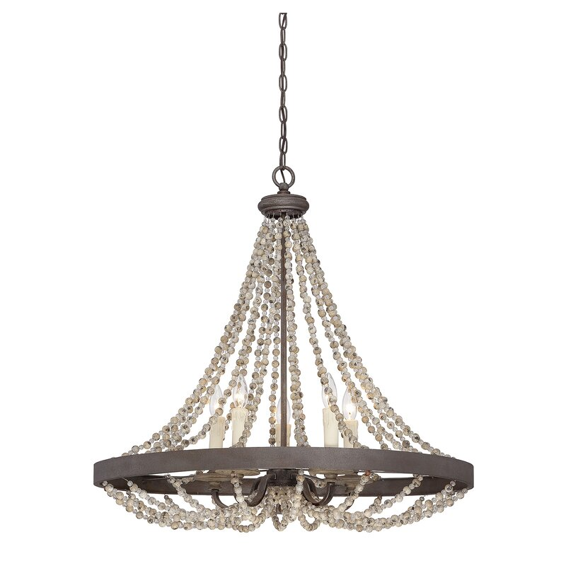 Birch Lane™ Marinette 5-Light Candle-Style Chandelier