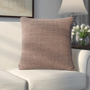 Abraham Texture Coco Soft Burlap Throw Pillow by Alcott Hill Herry Up