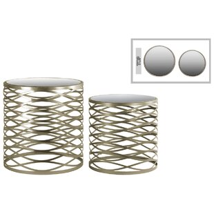 Metal Round 2 Piece Nesting Tables