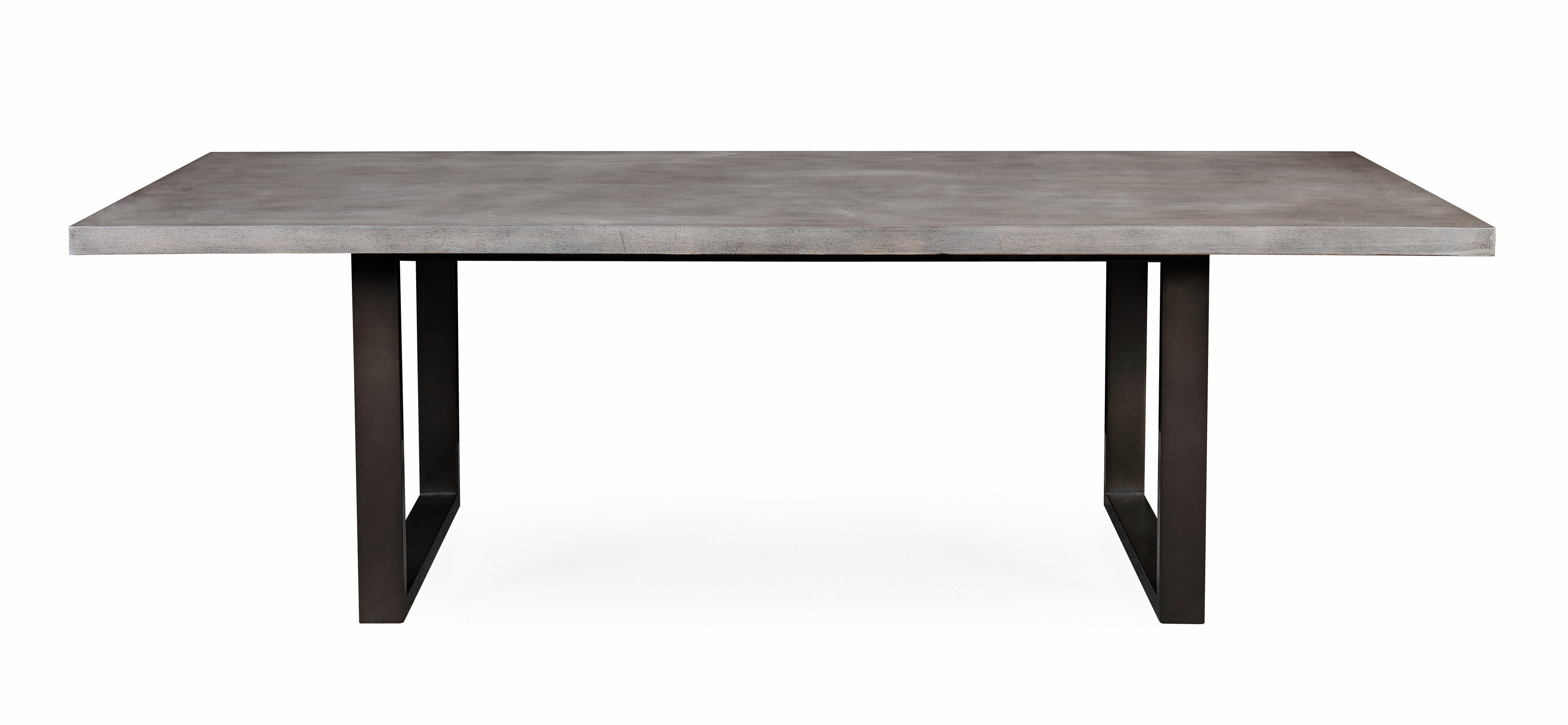 Carnarvon Concrete Dining Table Reviews AllModern - Faux concrete outdoor dining table