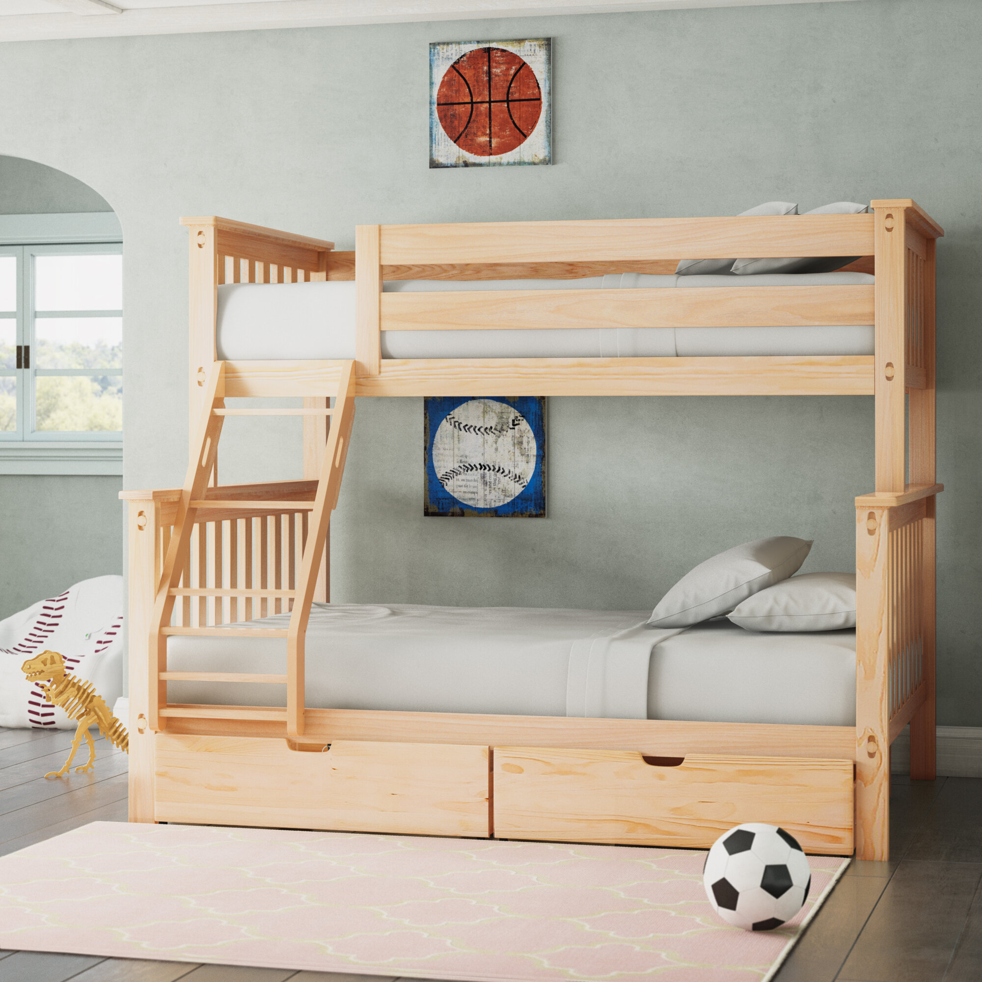 Kids Bunk Beds With Desks Free Shipping Over 35 Wayfair