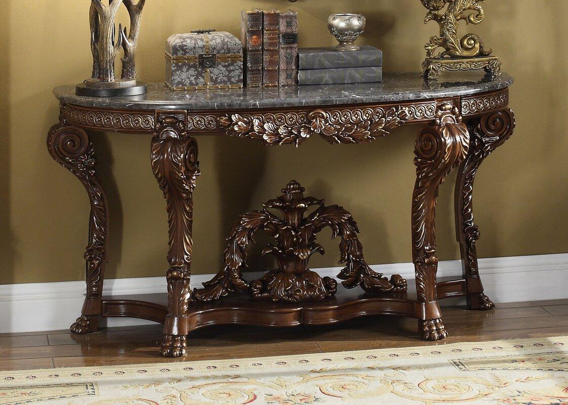 marble u0026 granite console u0026 sofa tables you u0027ll love wayfair