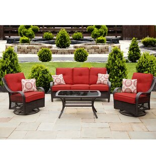 Bibiana 4 Piece Sofa Set with Cushions