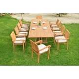Cael Luxurious 11 Piece Teak Dining Set