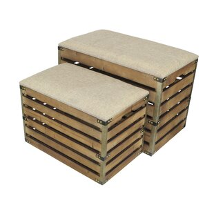 Best Choices Probst Storage 2 Piece Bench Set By Gracie Oaks