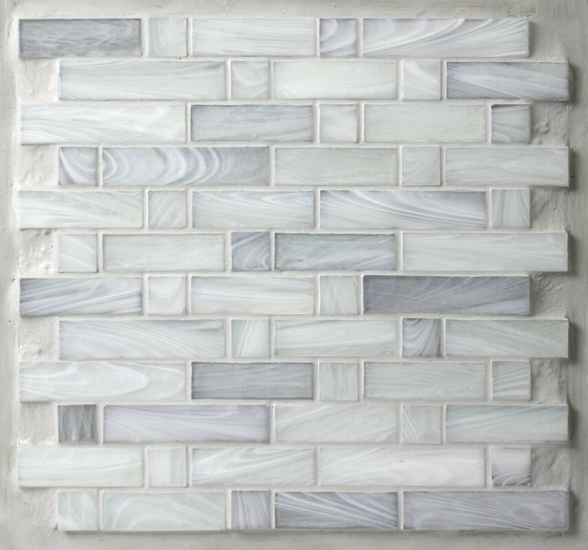 Homespun 12 X Gl Mosaic Tile In Gray