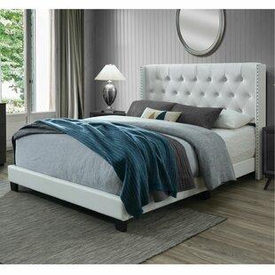 King Leather Sleigh Bed Wayfair