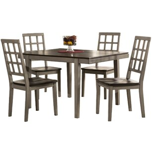 Hollansburg 5 Piece Dining Set by Alcott Hill Comparison
