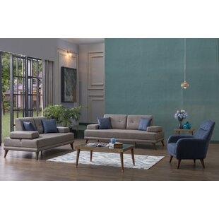 Ornella 3 Piece Living Room Set by Decor+